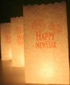 Candle Bags wit met happy newyear sjabloon
